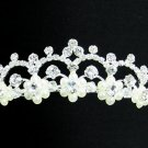 Bridal accessories; wedding tiara;rhinestone handmade headpiece; crystal pearl regal T1519