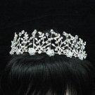 Bridal accessories; wedding tiara;rhinestone handmade floral headpiece;crystal headband 1188