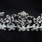 Bridal accessories;handmade wedding tiara;rhinestone headpiece; alloy handmade floral regal 9001