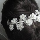 Bridal accessories;wedding tiara;rhinestone headpiece;crystal floral headband 199L