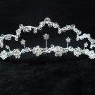 Bridal hair accessories;wedding tiara;rhinestone silver headpiece;crystal imperial 2083