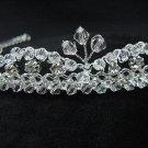 Bridal accessories;wedding tiara;rhinestone headpiece;sparkle swarovski crystal regal 2420