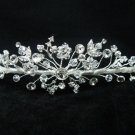 Bridal hair accessories;wedding tiara;rhinestone bridal headpiece;crystal floral headband  2468