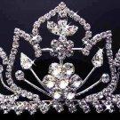 Bridal hair accessories;wedding tiara;rhinestone elegant swarovski crystal regal 786