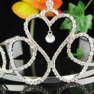 Bridal hair accessories;wedding tiara headpiece sweetheart elegant crystal huge regal  963