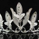 Bridal hair accessories;wedding tiara;rhinestone headpiece floral crystal huge regal 1880