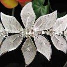 Bridal hair accessories wedding tiara floral rhinestone headpiece handmade crystal huge regal 010