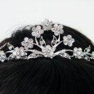Bridal hair accessories wedding tiara;rhinestone headpiece handmade alloy crystal floral regal 1323
