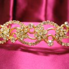 Bridal hair accessories wedding tiara;rhinestone headband golden crystal band 739g