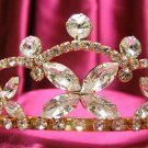 Bridal hair accessories;wedding tiara golden swarovski crystal headpiece 510g