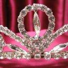 Bridal accessories;wedding tiara;rhinestone headpiece handmade silver swarovski imperial cn63s