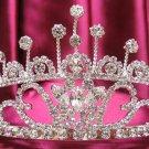 Bridal accessories;handmade wedding tiara;rhinestone headpiece;silver swarovski imperial g193