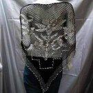Crochet sexy pattern cape;hot hippie shrug;fashionable beaded wrap handmade floral shawl top sq36