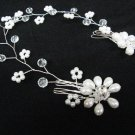 wedding tiara bridal hair accessories floral rhinestone pearl crystal hair bridal comb 40069