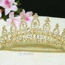 Bridal hair accessories;wedding tiara;rhinestone golden elegance crystal bridal comb 4539G