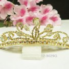 Bridal hair accessories;wedding tiara;rhinestone alloy golden crystal bridal comb 9029G