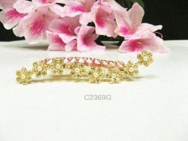 Bridal hair accessories wedding tiara rhinestone floral golden crystal hair comb 2368G