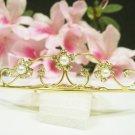 Golden Bridal accessories;wedding tiara;rhinestone headpiece crystal hair comb 3491g
