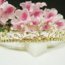 Bridal hair accessories;wedding tiara rhinestone headpiece alloy golden crystal comb 4549G