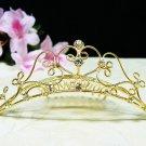 Golden Bridal hair accessories;wedding tiara ,filigree rhinestone crystal comb 4598G