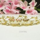 Floral Bridal hair accessories;wedding tiara;rhinestone headpiece golden crystal comb 5479G