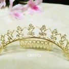 Golden Bridal hair accessories;wedding tiara;rhinestone headpiece crystal comb 6537G