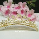Golden Bridal crystal small comb hair accessories,wedding tiara ,rhinestone headpiece veil 07G