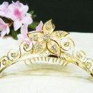 Golden Bridal crystal comb hair accessories,wedding tiara ,rhinestone headpiece veil 1459G