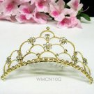 Crystal handmade bridal comb hair accessories,wedding tiara veil,rhinestone headpiece veil 10G
