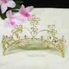 crystal bridal comb hair accessories,wedding tiara,rhinestone floral headpiece veil 19G