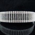 Crystal Bridal headband veil,bridal hair accessories,wedding tiara veil,rhinestone headpiece 2307