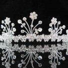 handmade floral headpiece,bridal hair accessories,wedding tiara veil,rhinestone regal 282