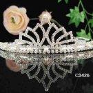 Bridal headpiece,bridal hair accessories,wedding tiara rhinestone veil 3426