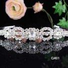 Bridal headband veil,bridal hair accessories,wedding rhinestone tiara 401