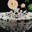 Bridal tiara headband veil,wedding rhinestone hair accessories,pearl tiara 612