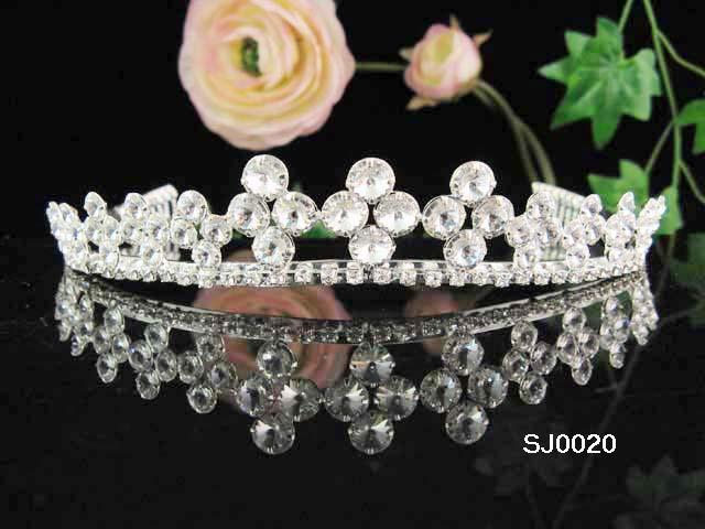 Bridal tiara headband veil,wedding rhinestone hair accessories,pearl tiara 20