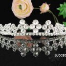 Bridal tiara headband veil,wedding rhinestone hair accessories,pearl tiara 20