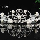 Bridal tiara pearl imperial veil,wedding headpiece hair accessories tiara band 1520