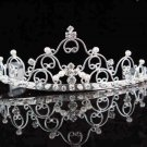Handmade silver bridal tiara,wedding headpiece woman hair accessories tiara band regal 2259
