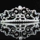 Handmade silver imperial veil,wedding headpiece woman hair accessories tiara band regal 2485
