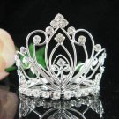 Handmade silver bridal small crown veil,wedding headpiece woman hair accessories tiara regal 8772