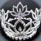 Silver bridal small crown veil,wedding headpiece woman hair accessories tiara regal 2421