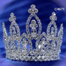 Bridal silver small crown veil,wedding headpiece woman hair accessories tiara regal 4671