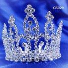 Bridal silver small crown veil,wedding headpiece woman hair accessories tiara regal 5029
