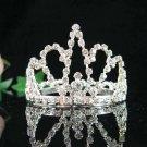 Handmade silver bridal small crown veil,wedding headpiece woman hair accessories tiara regal 6713