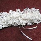 Handmade ivory lace & pearl & elastic & ribbon bridal garter veil,wedding accessories 8293i