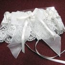 Handmade Ivory french lace & pearl & elastic & ribbon bridal garter veil,wedding accessories 8298