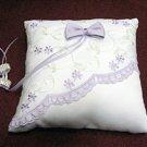Handmade purple white satin bridal ring pillow ribbon veil,wedding accessories r990i