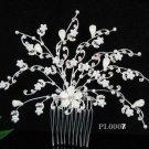 Handmade alloy pearl floral silver bridal comb,wedding tiara headpiece hair accessories regal PL08