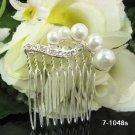 Handmade silver pearl bridal comb,wedding tiara headpiece woman hair accessories regal 1048S